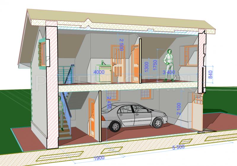 Конструкция гаража из металлопрофиля
