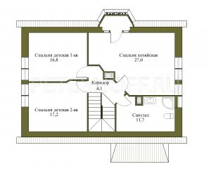 План 2 этажа. Основной вариант.