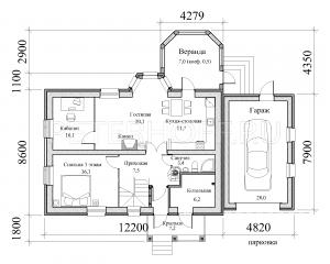 План 1 этажа.