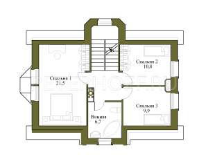 Разделение 3 этажа на 3 спальни-без изменения конструкций