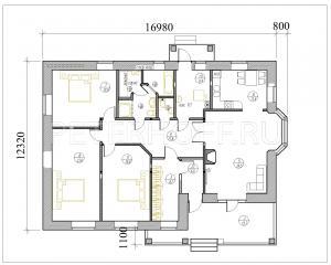 План первого-единственного - этажа