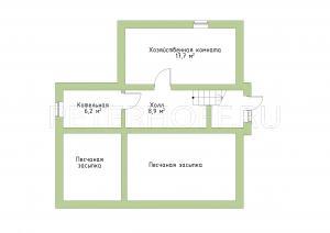 План цокольного этажа.