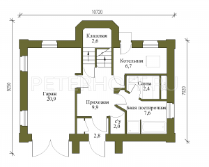 План 1 этажа (2-ой вариант)