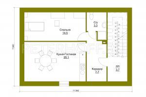 План второго этажа (мансарда)