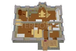 План первого этажа в объеме