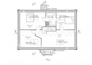Вариант проекта с санузлом на 2-ом этаже