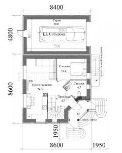 1-ый этаж - с гаражом