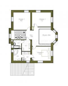 План 2 этажа с вторым светом - опция