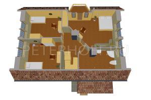 План второго этажа в объеме